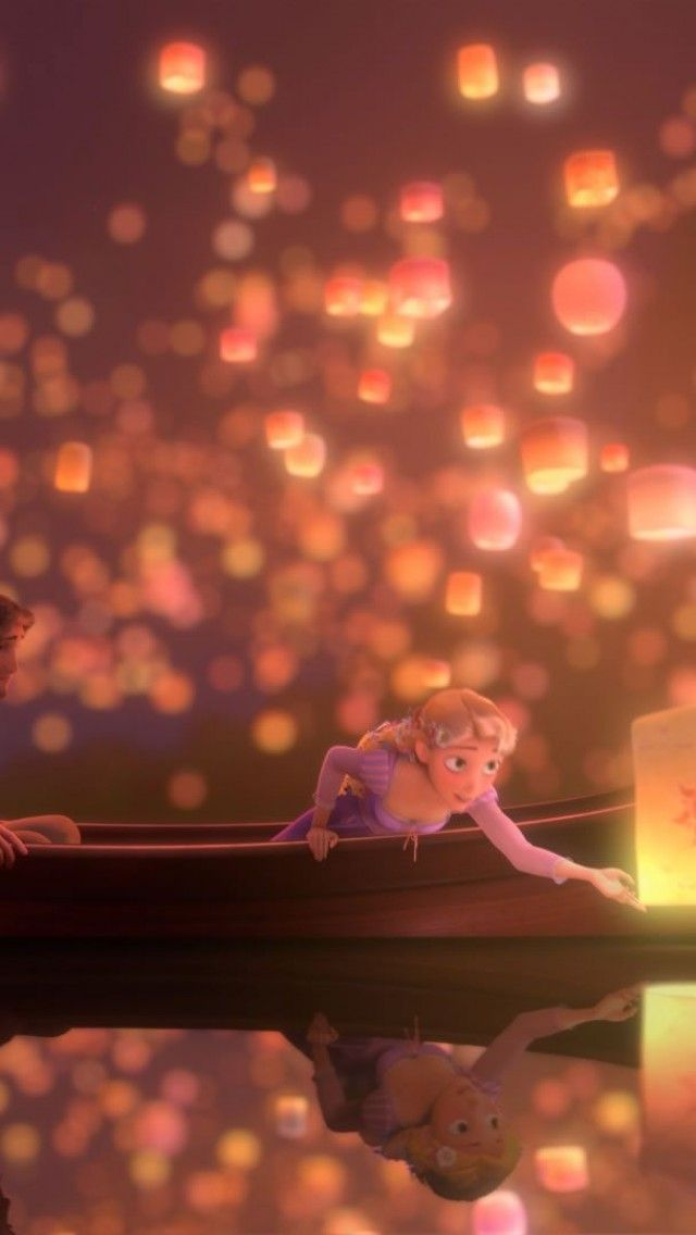 tangled decorations up close floating lantern tea lights