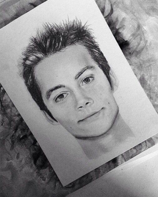 Audrey Gianelli Art - My portrait of Dylan O'Brien made ...  Monochromatic Portrait Dylan Obrien