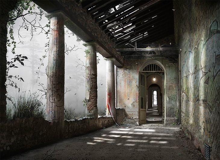 Сюрреалистические пейзажи, вдохновленные техникой 100 летней давности