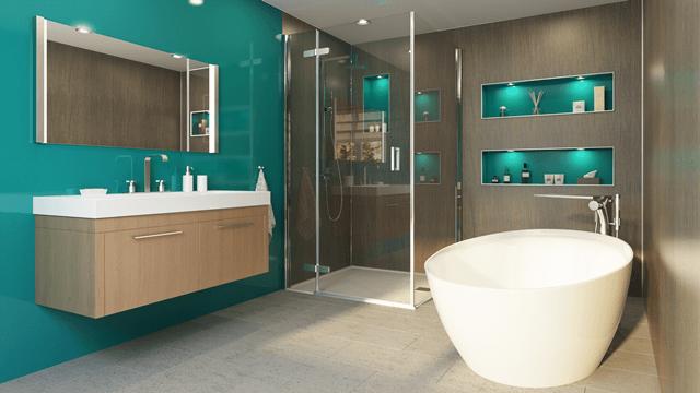 Spapanel The Luxury Alternative To Tiles Bathroom Interior Bathroom Cabinets Designs Shower Wall Panels