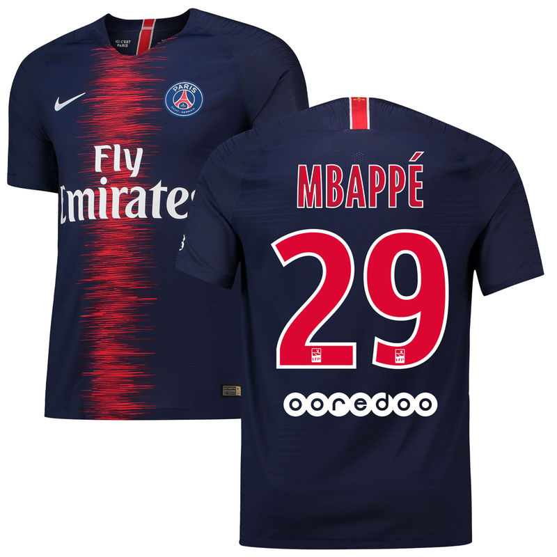 Kylian Mbappé Paris Saint-Germain Nike 2018 19 Home Replica Player Jersey –  Navy 3f9bf22c3