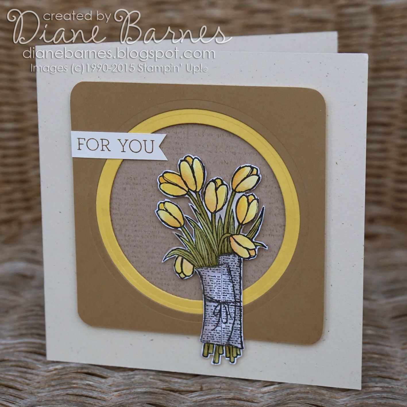 Stampin Up Love is Kindness & Crazy About You card by Di Barnes #colourmehappy