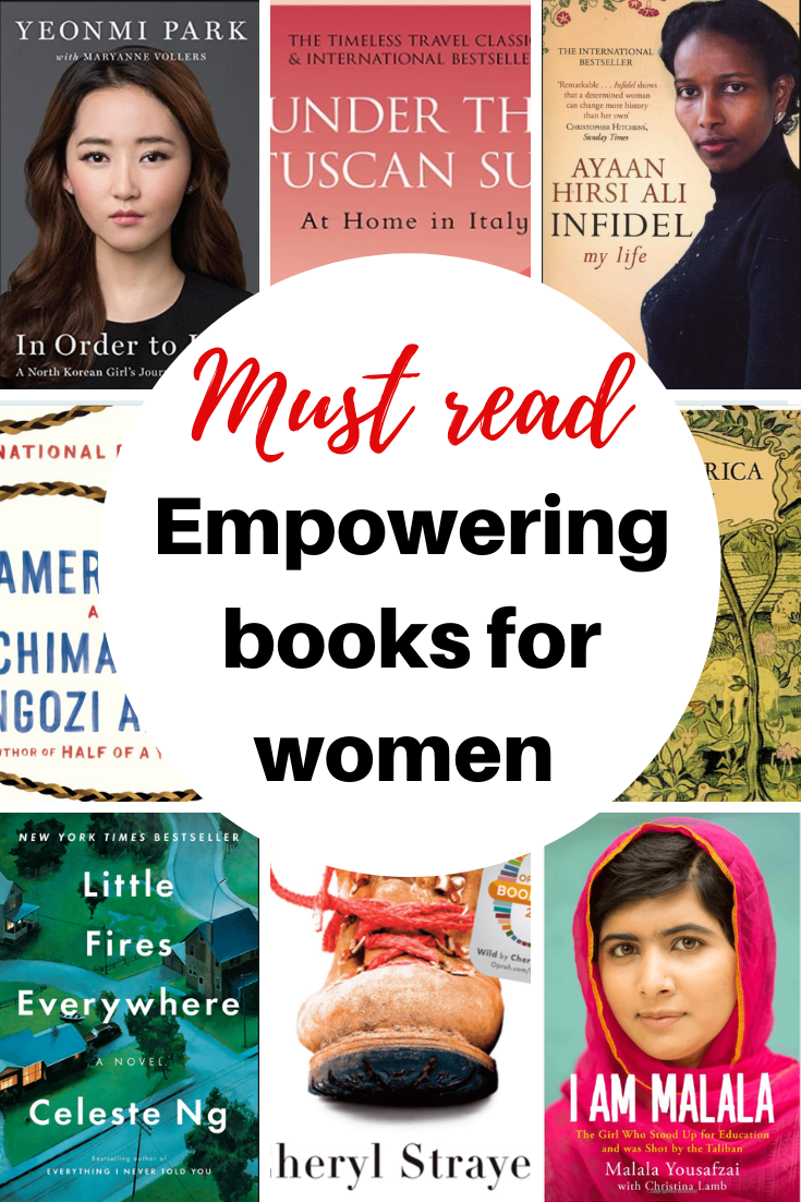 A list of books for women written by women with strong women leads. Nonfiction books or beautiful books that will make you think, books to read in your 20s and thirties. Some best seller books that make great gifts for women. #readinglist #booklist