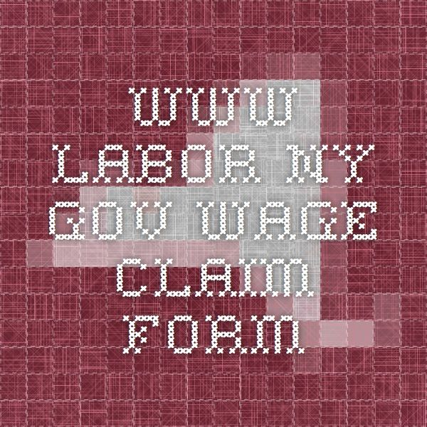 www.labor.ny.gov wage claim form | Domestic Workers Rights | Pinterest