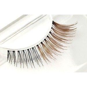 100% Natural Human Hair False Eyelashes half brown color