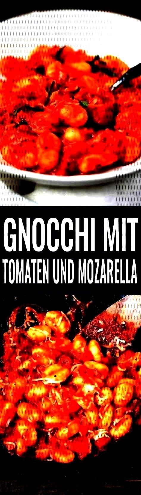 sauce and mozzarella - Gnocchi with tomato sauce and mozzarella. This recipe takes 15 with tomato