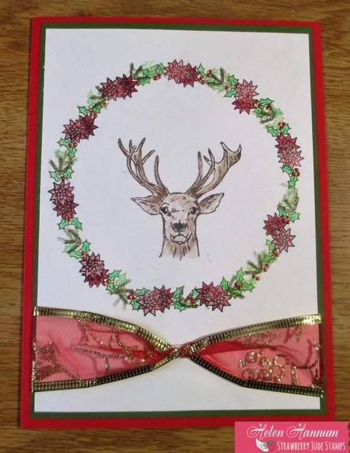 """Card created with stamp sets, """"Don't Forget Christmas"""" and """"Note It: Letter to Santa"""" by Strawberry Jude Stamps."""