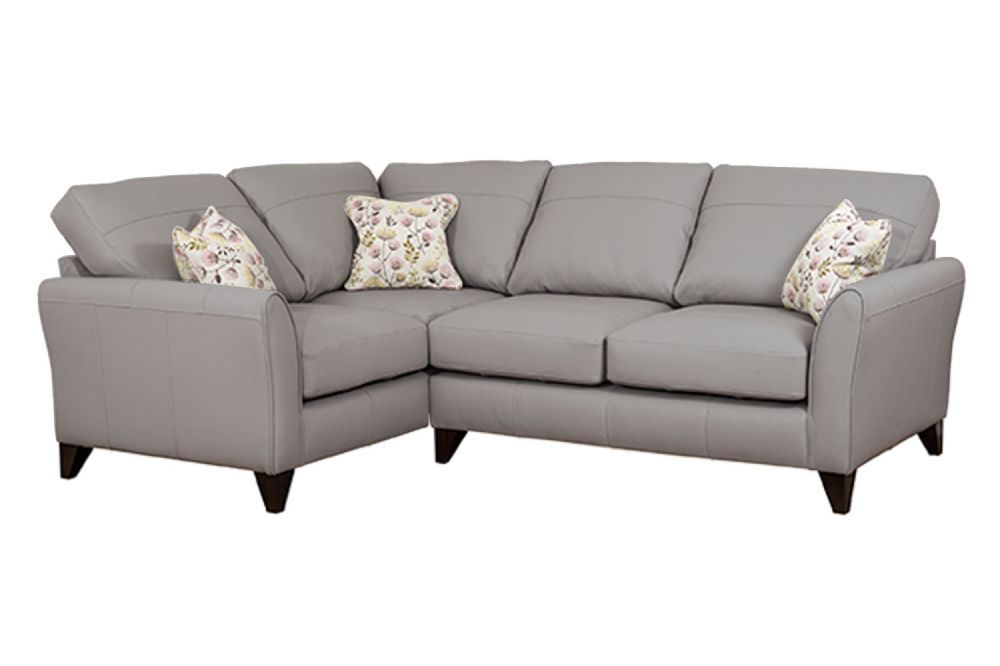 Fairfield Steel Grey Corner Sofa. The Fairfield Leather Sofa Boasts A  Chunky Durable Frame And