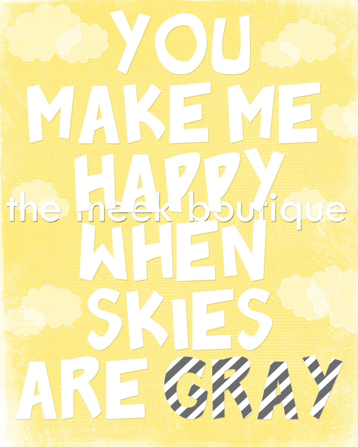 kids bath) You Make Me Happy: Wall Art Printable. $5.00, via Etsy ...