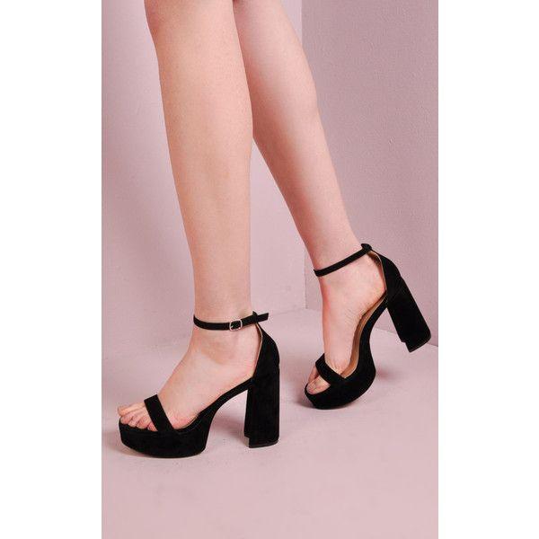 c5b71e84603e1 LILY LULU FASHION 70 S Chunky Heel Platform Shoes Black ( 51) ❤ liked on  Polyvore