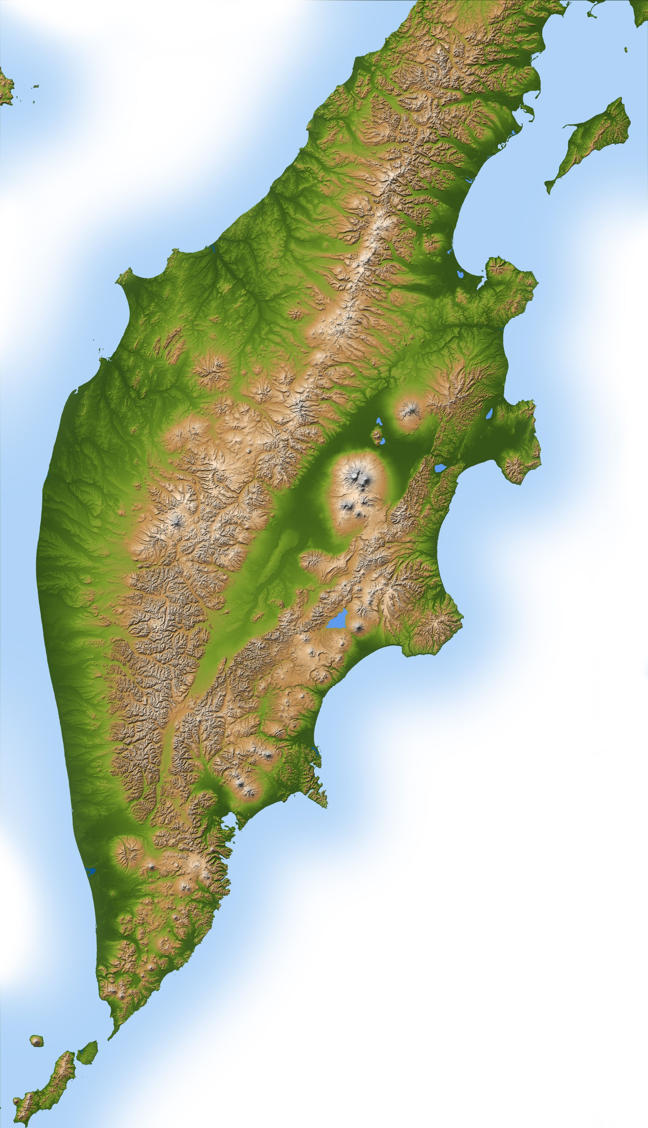 Terrain Map Kamchatka Peninsula Kamchatka Pinterest Global - Global terrain map