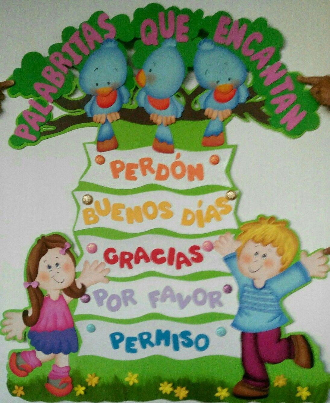 Palabras Magicas Decoracion Aula De Preescolar Manualidades Escolares Actividades Para Ninos Preescolar