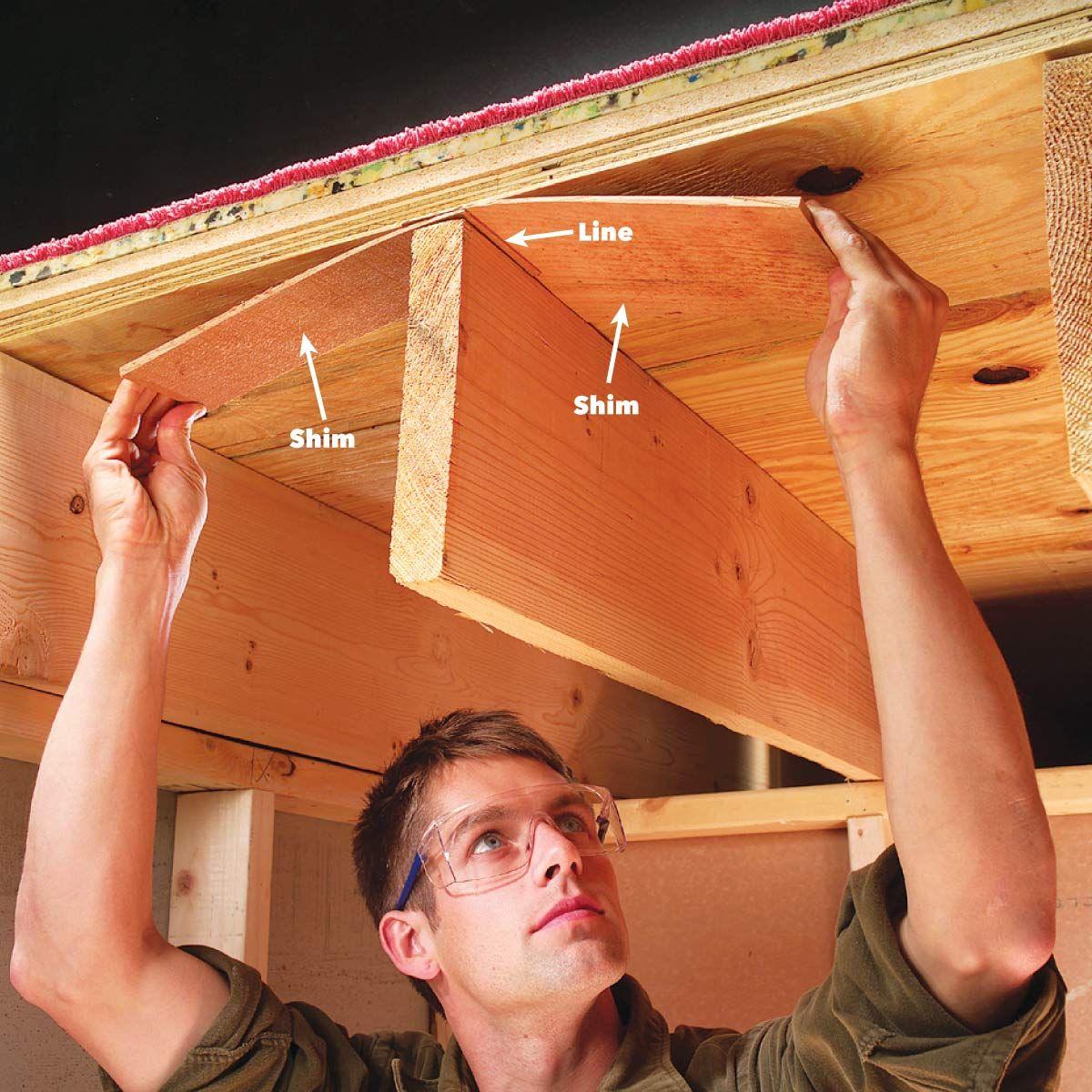 How To Fix Squeaky Floors Fix Squeaky Floors Squeaky Floors Family Handyman