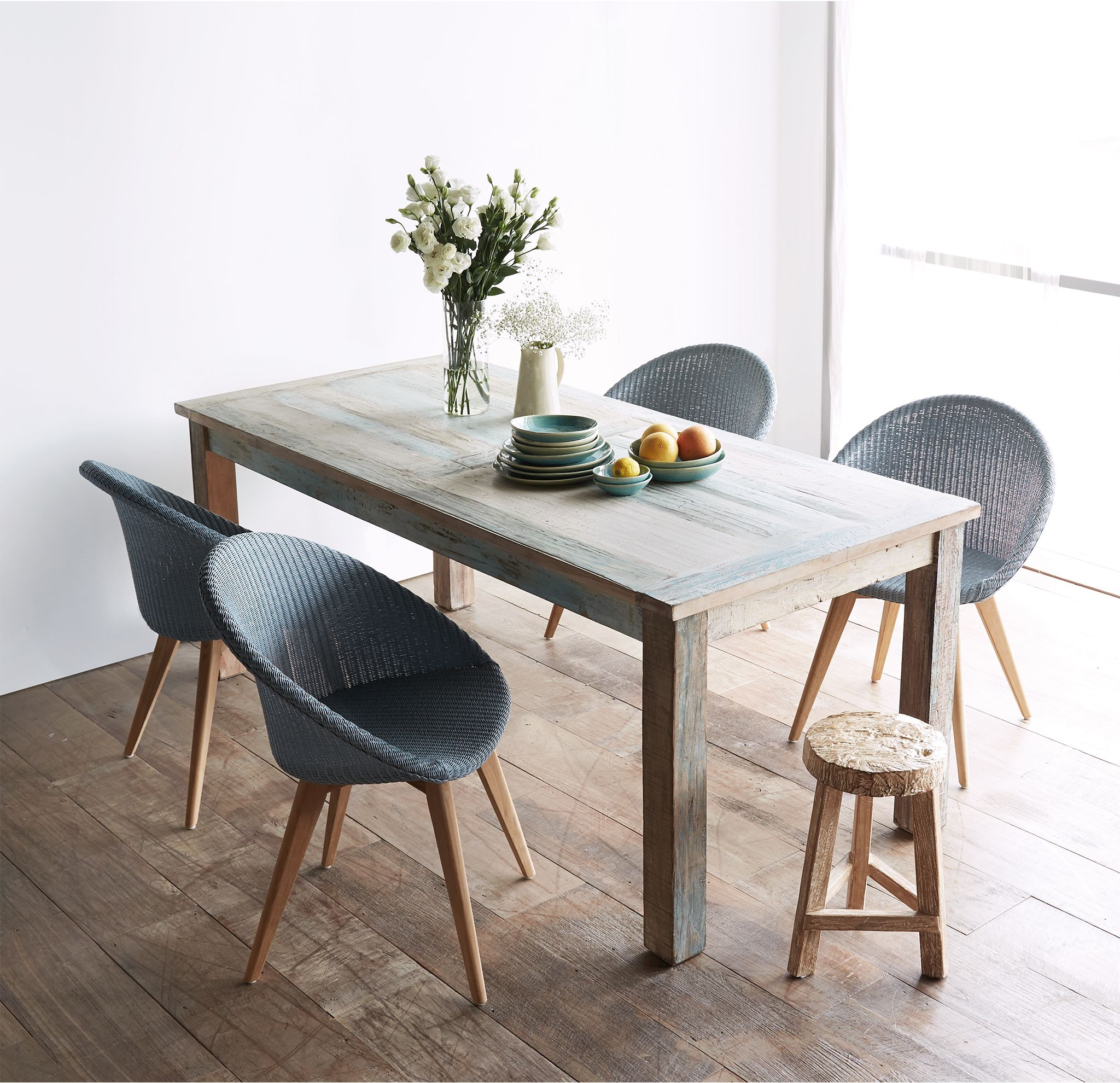 Nomad India Recycled Dining Table Made From Reclaimed Teak