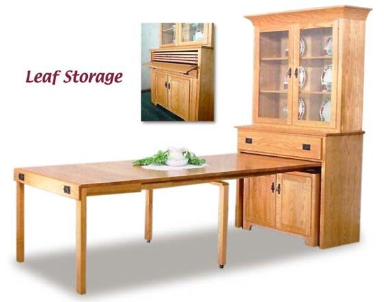 Pull Out Dining Table Mission Pullout Console With Hutch Amish