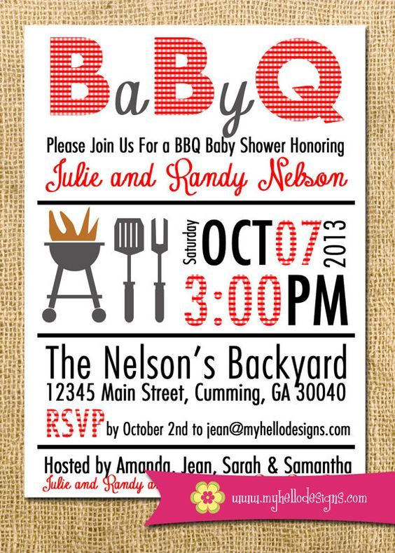 S Baby Shower Invitations Cookout