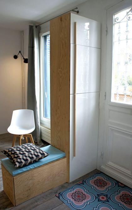 Rénovation maison  un séjour à la décoration scandinave Entrée - Aide Travaux Maison Ancienne