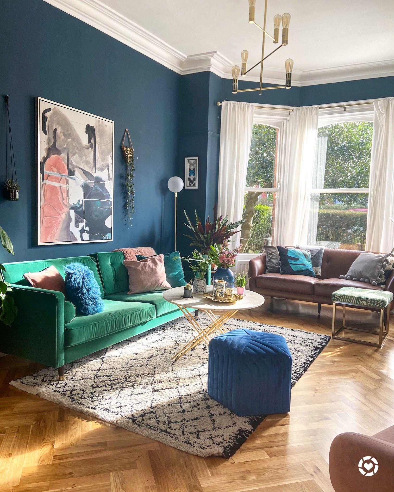 Green Sofa Living Room Design Living Room Decor In 2020 G