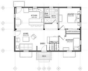 The next home in our shops will be around1000 square feet ...