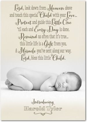 Birth Announcement Quotes Fascinating Like This Blessing For New Babies  Babiesmaranatha Campbell