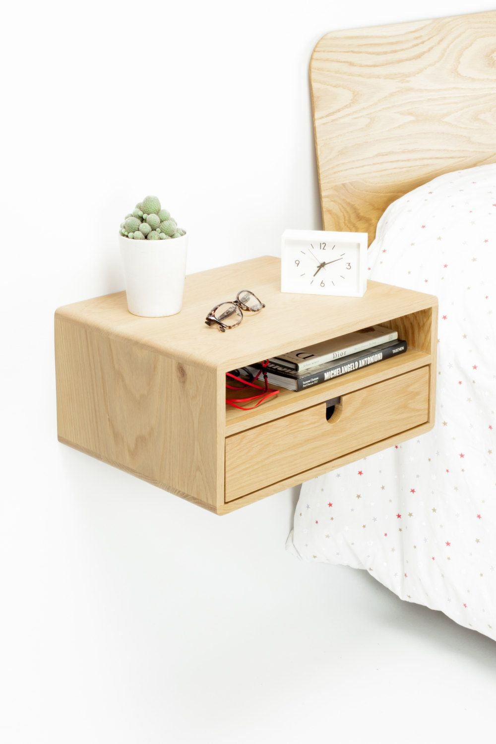 Best Floating Nightstand Bedside Table With 2 Drawers In By 400 x 300