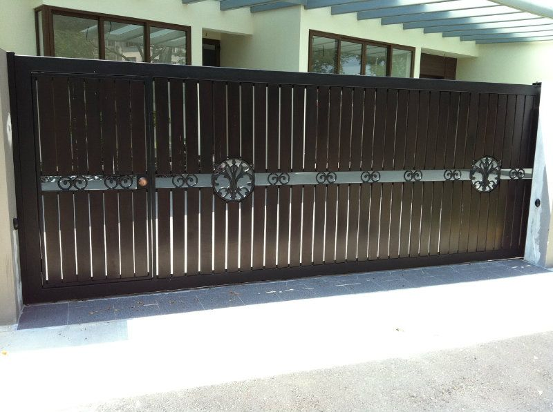 Contemporary main gate designs rohan pinterest main for Front gate design