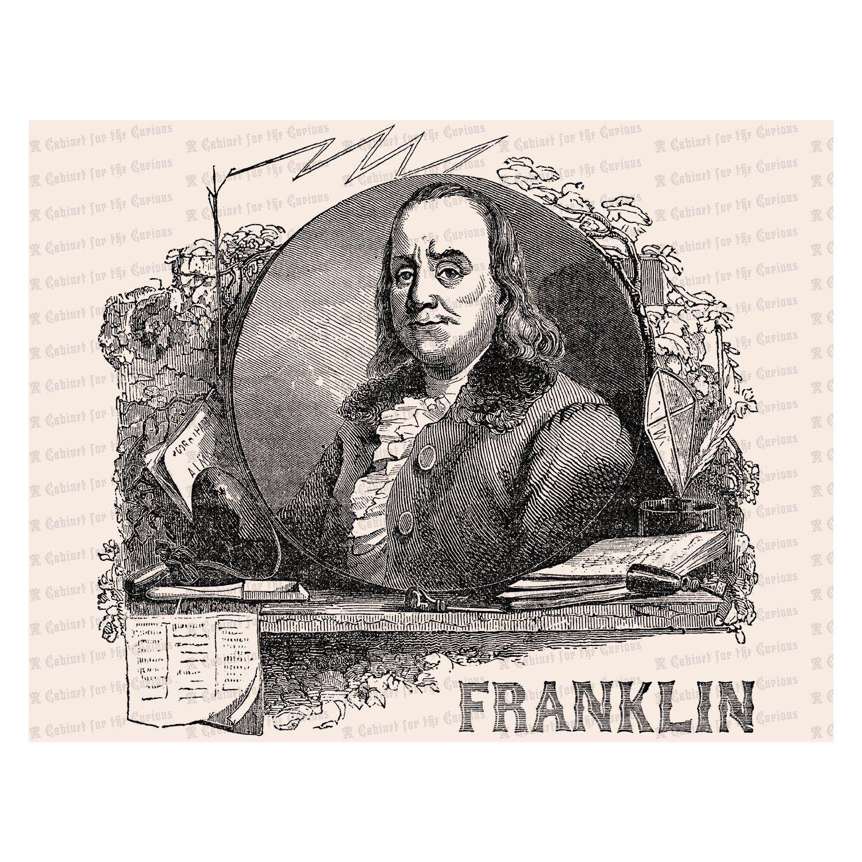 Vintage Benjamin Franklin Victorian Portrait
