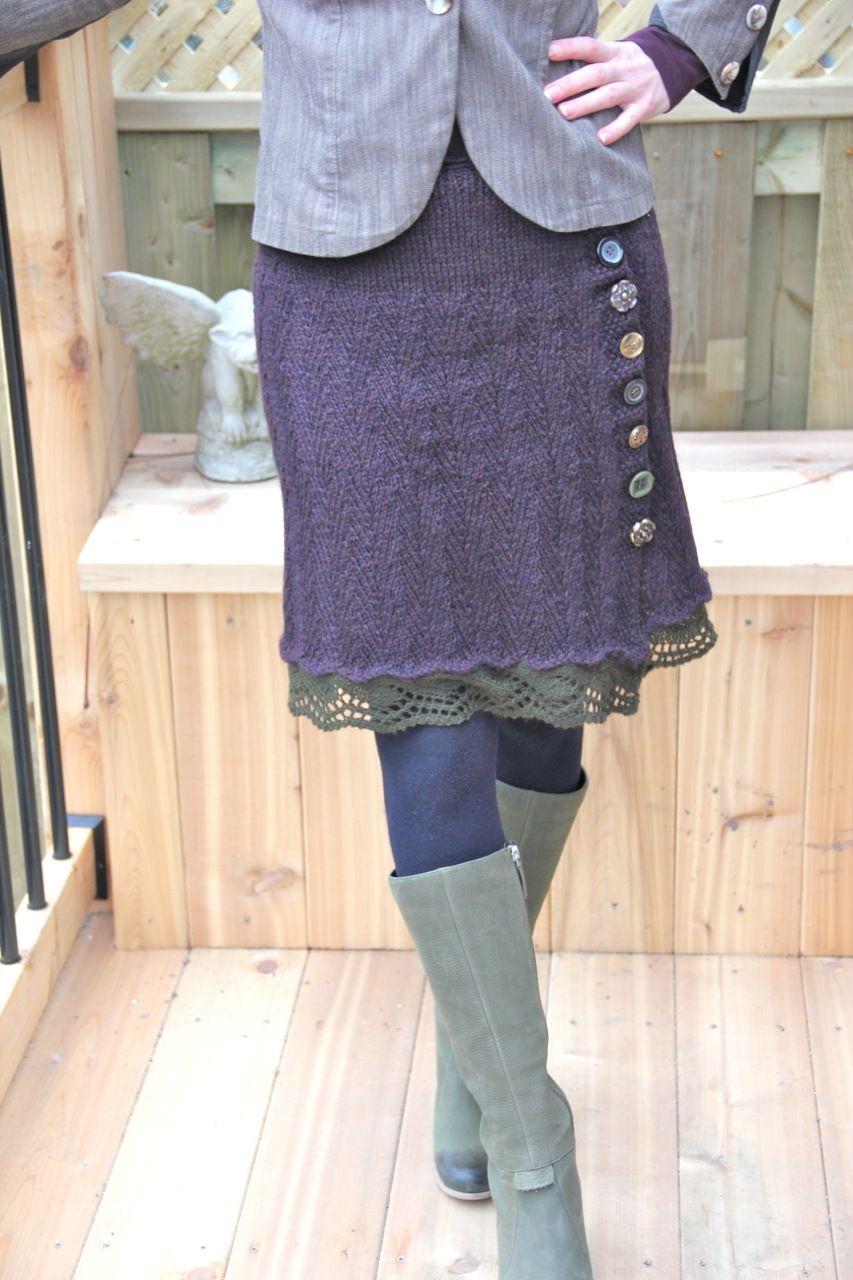 Knitted Skirts for Fall | Knitting - skirt | Pinterest | Stricken