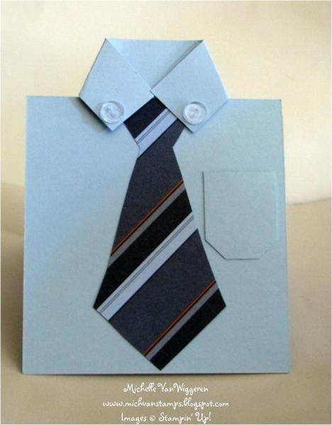 Papercraft Fathers Day Shirt Card