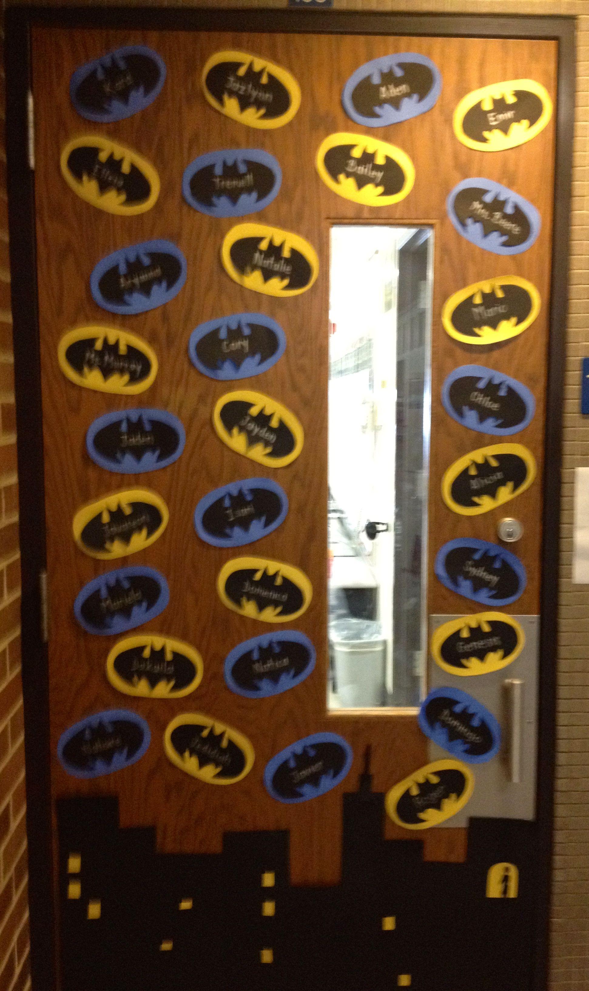 Amazing Batman Themed Classroom Door Students Names Are