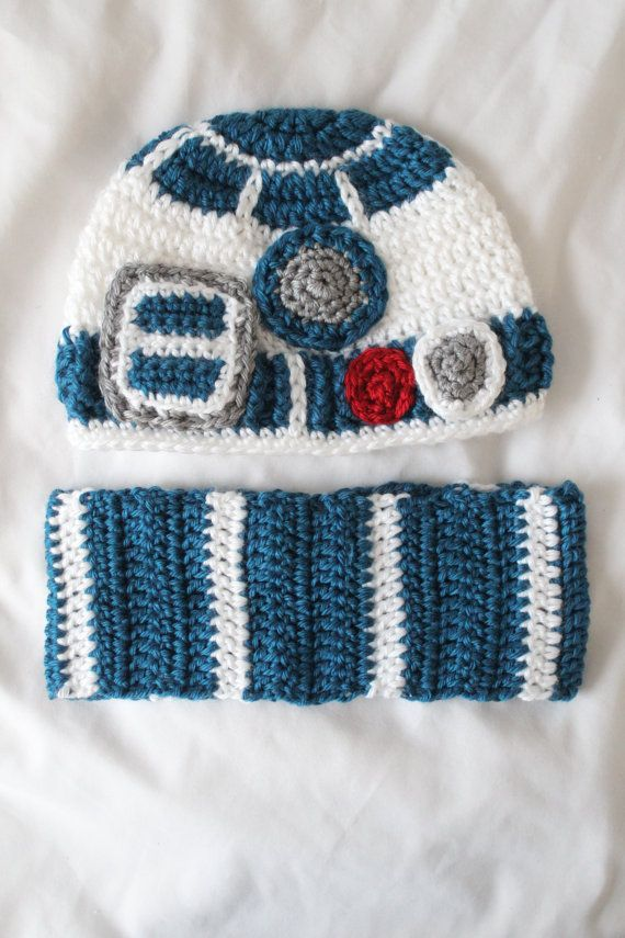 PATTERN for crochet baby hat inspired by R2D2 by HappyJourneys ...