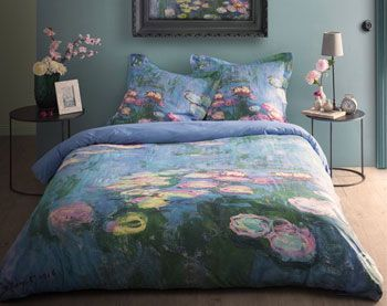 linge de lit les nymph as de claude monet becquet