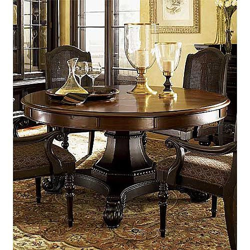 Tommy Bahama Kingstown Bonaire Round Extension Dining Table Please Go On Sale So I Can Round Pedestal Dining Table Round Dining Table Round Dining Table Sets