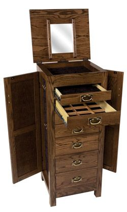 Amish Outlet Store : Flush Mission Jewelry Armoire In Oak