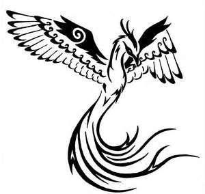 Tribal Fenix Volando Imagen Tatuajes Diseños Catalogos