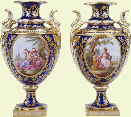 1773 French Svres Vases In The Royal Collection Uk From The