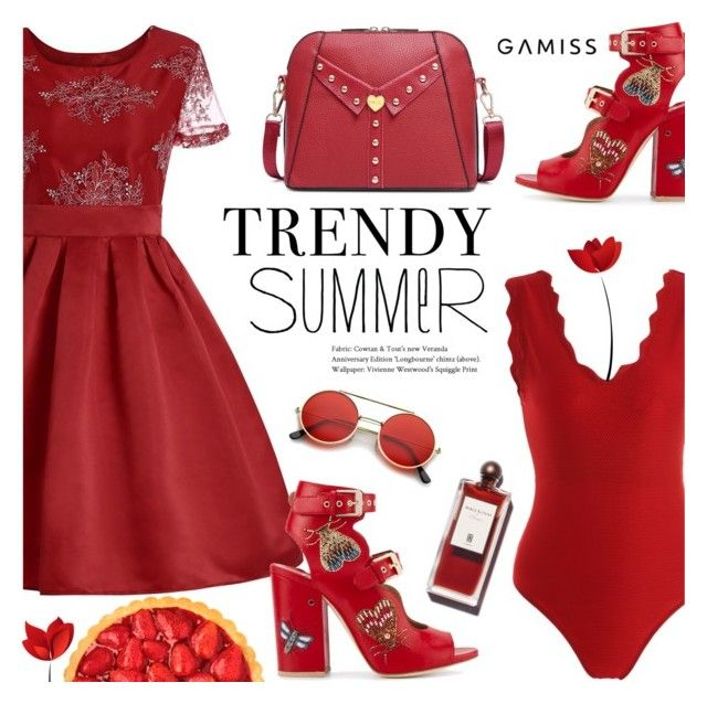 """""""Trendy Summer ~ GAMISS #21"""" by alexandrazeres ❤ liked on Polyvore featuring Laurence Dacade, ZeroUV, modern and vintage"""