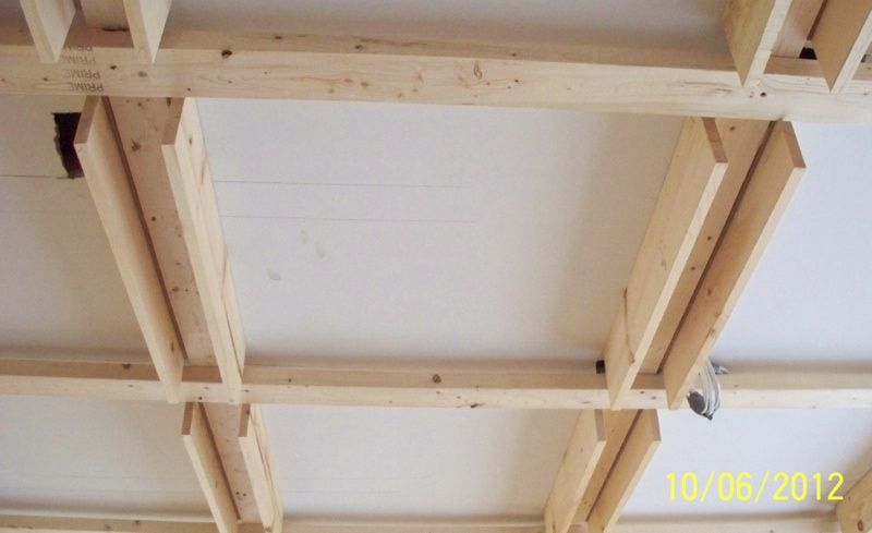 Framing For A Coffered Ceiling By Susan M Meyers House