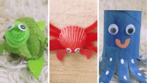 Atelier créatif : fabriquez simplement 3 animaux marins