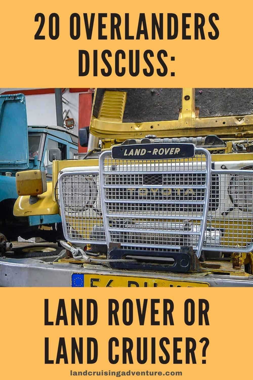 Land Rover Vs Land Cruiser Why Land Rover Coen Wubbels In 2020 Land Cruiser Parts Land Rover Land Cruiser
