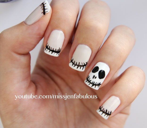 jack skellington nails | MAKEUP | Pinterest | Jack skellington, Nail ...