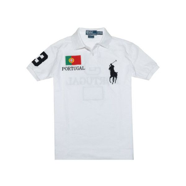 66a609f1555c8 LA Capone Wearing Polo Ralph Lauren Big Pony Portugal Flag Shirt In... ❤  liked on Polyvore featuring tops