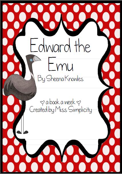Edward The Emu Literacy Activities Literature Reading border=