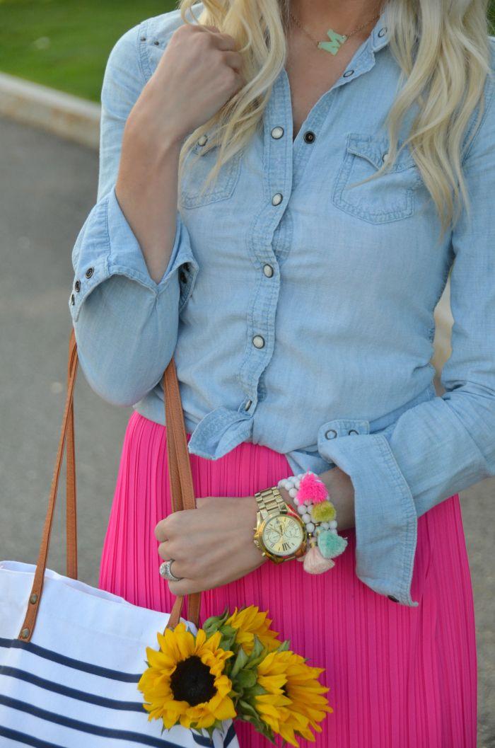Pleated in Pink - Mckenna Bleu