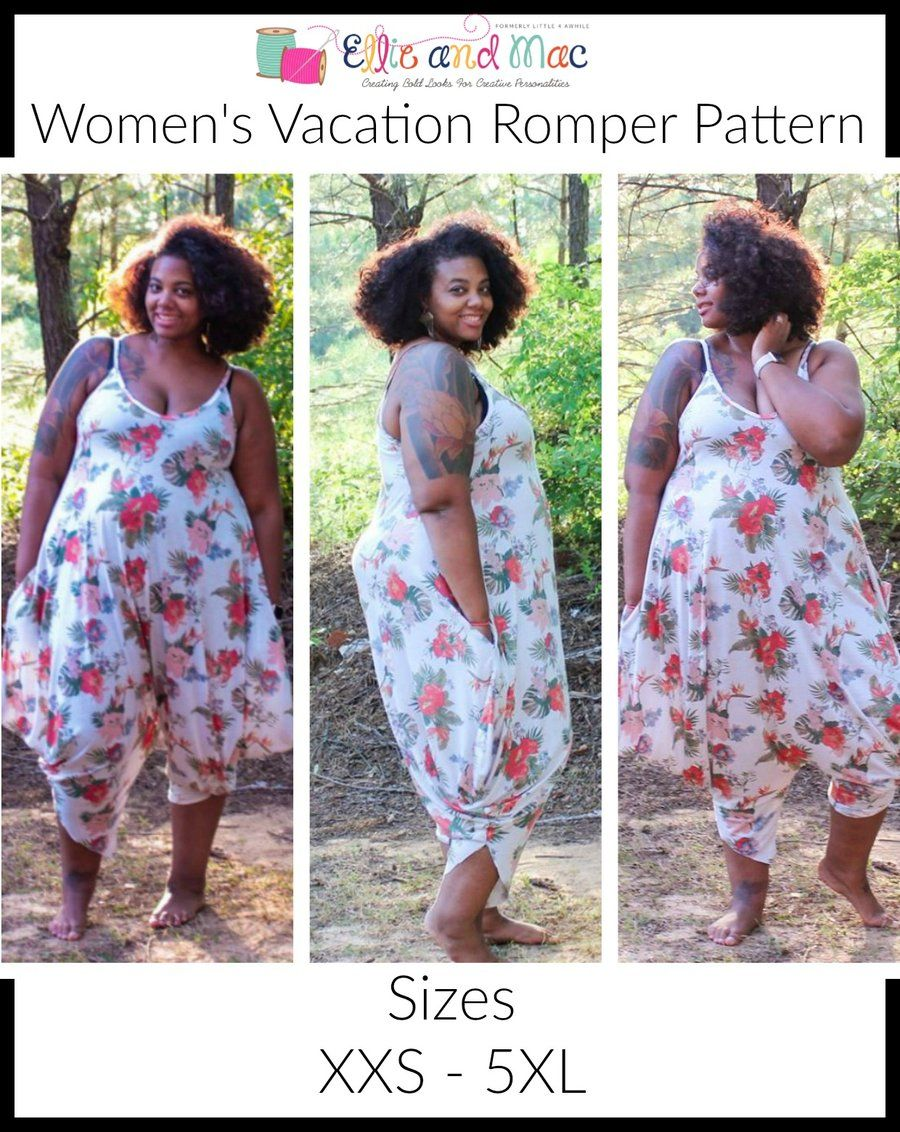 Vacation Romper Pattern Adult S Romper Sewing Pattern Romper