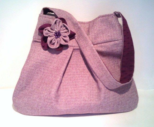 Purple Herringbone Handbag by Marice's World