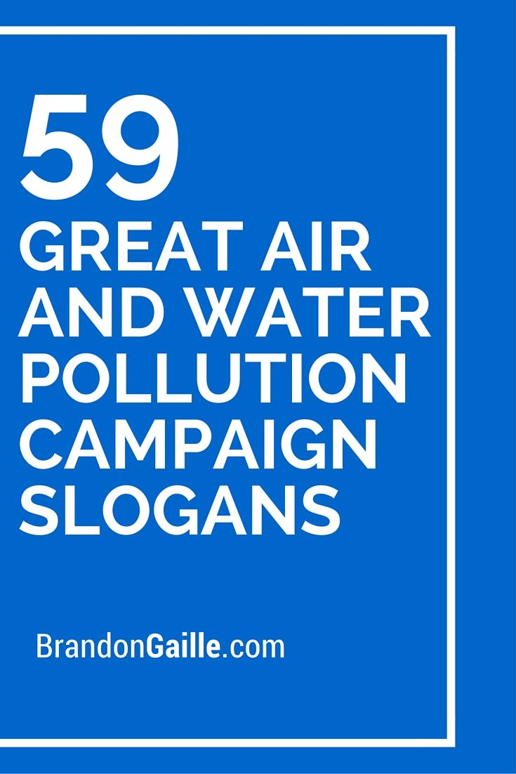 catchy slogans on air pollution