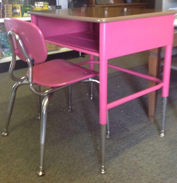 27 School Desk Ideas Desks, Pink Wooden School Desk