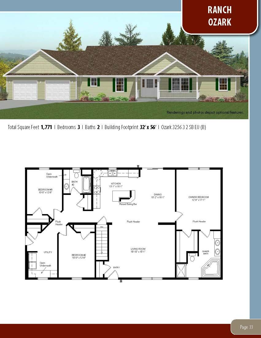 To Learn About Building Your New Home With All American Homes Visit Our Website At Www Allamericanhomes Ranch House Plans Modular Home Plans Tiny House Plans