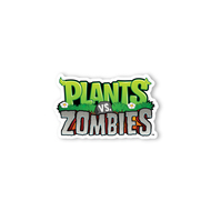 Plants Vs Zombies Stacked Logo Wall Graphics Digital Ink Zombie